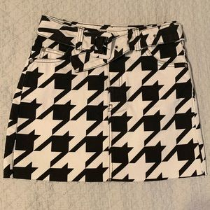 Topshop houndstooth mini skirt